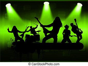 Rock band, vector illustration