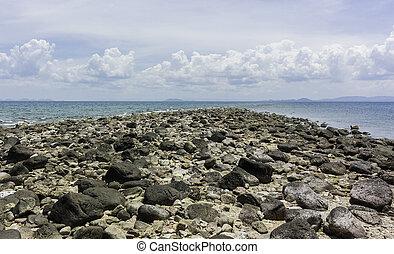rock beach on the island