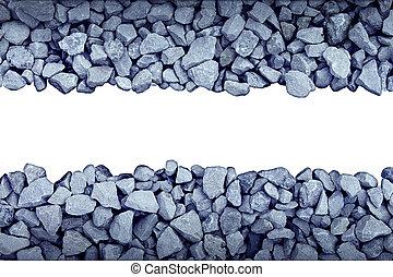 Rock Border Design Element with boken grey stones forming a ...