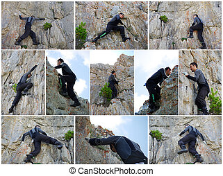 Rock climber - collage