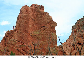 Rock climber in Garden of the Gods