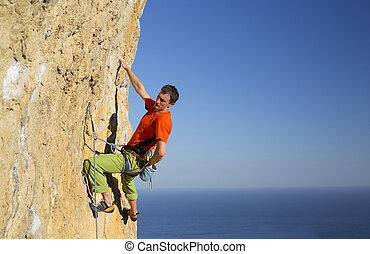 Rock climber. - Rock climber to climb the wall.
