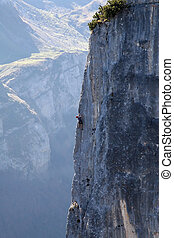 Rock climbing near St.Gallen (Switzerland)