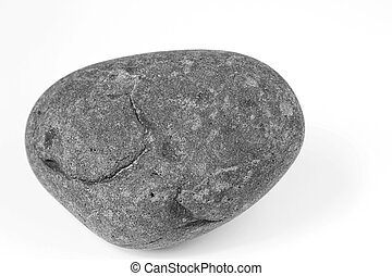 Rock - Closeup of one rock on plain background