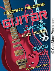 Rock concert design template with g