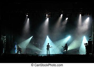 live band performing at a concert - no visible human faces