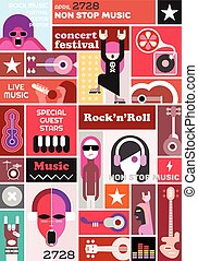 Rock Concert poster template design