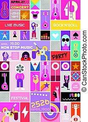 Rock Concert Poster Template