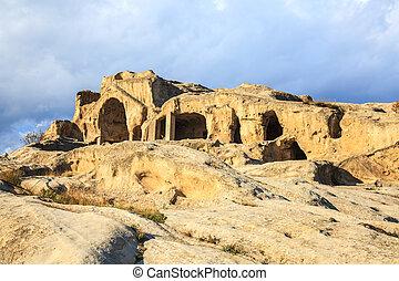 Rock cut city of Uplistsikhe is an ancient rock-hewn town...