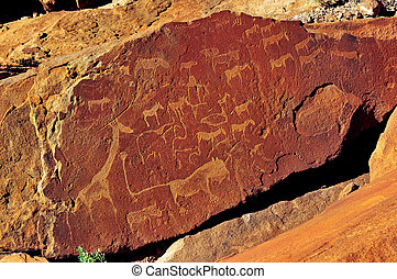Rock engravings at Twyfelfontein, Namibia