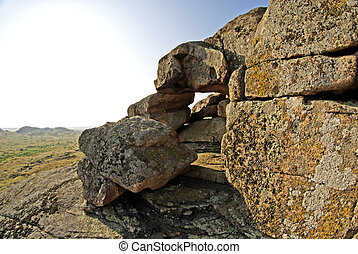 Rock erosion. Geological formations