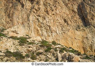 Rock face - Full frame take of a limestone rock face