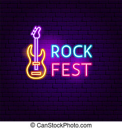 Rock Fest Neon Sign