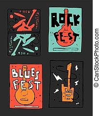 rock, festival, affisch