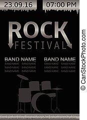 Rock festival banner