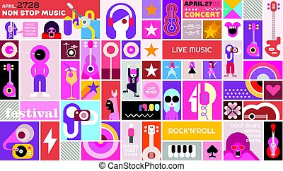 Rock Festival poster template design