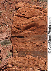 Rock Formation - A rock formation in the desert.