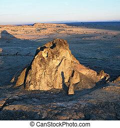 Rock formation. - Aerial of scenic Arizona desert landscape ...