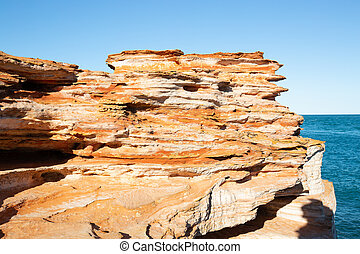 Rock formation and Indian Ocean Gantheaume Point