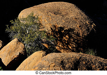Rock formation at Spitzkoppe in namibia