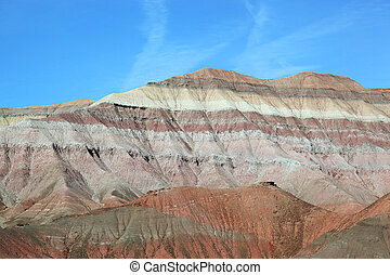 Rock formation - Colourful rock formation on route to Tuba ...