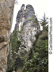 Rock formation courting couple in the national park of ...