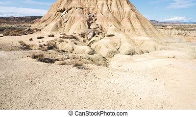 Rock formation in Bardenas Reales park, the biggest desert...