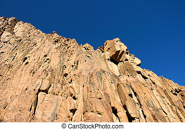 Rock formation in Mountain Mt Sinai - Egypt