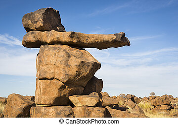 Rock Formation - Rock formation, Giants Playground, Namibia...