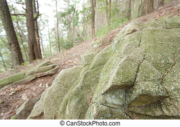 Rock Formation - Rock formation on the Appalachian Trail in ...