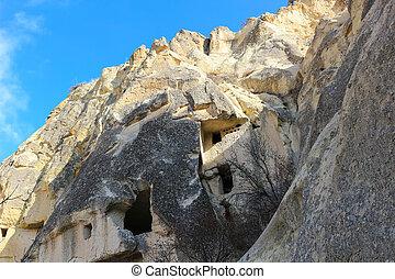 Rock formations at Cappadocia, Anatolia, Turkey
