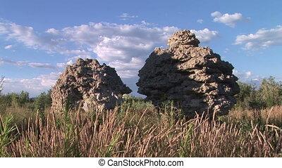 Rock Formations at Mono Lake - Tufa formations at Mono Lake,...