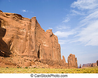 rock formations at monument valley - scenic rock formations...