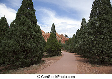 Garden of the Gods - Rock formations at the Garden of the...