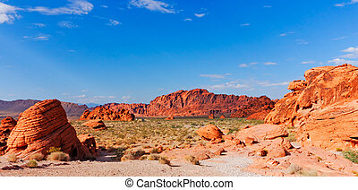 Rock formations at the Valley of fire outside of Las Vegas...