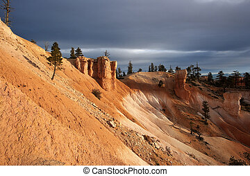 Rock formations in Bryce National Park