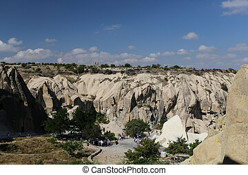 Rock Formations in Goreme National Park, Cappadocia, Nevsehir, Turkey