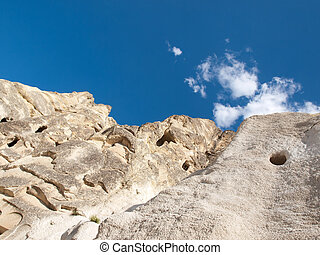 Rock formations in Goreme National Park . Cappadocia. Turkey