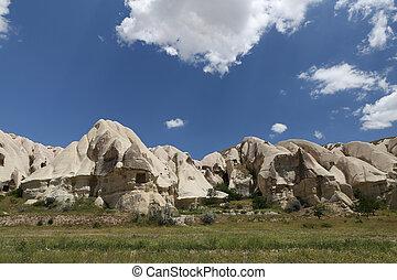 Rock Formations in Swords Valley, Cappadocia