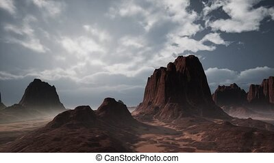 Rock Formations in the Nevada Desert - rock formations in...
