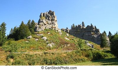 Rock fortress in Ukraine - Rock fortress Tustan in...