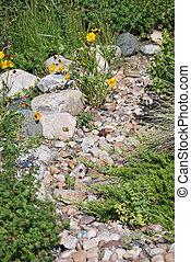 Rock garden. - Rock garden exterior view outside.