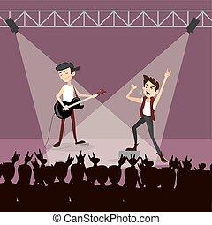 Rock group concert.
