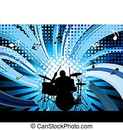 rock group drummer - Rock group drummer. Vector illustration...
