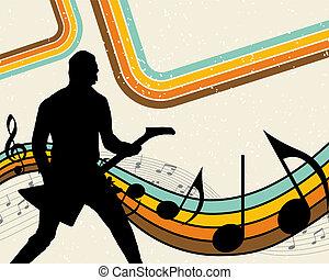 rock group - Rock group drummer. Vector illustration for ...