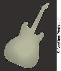 Rock guitar adverstising blank post