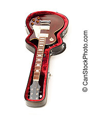 Rock guitar isolated on the white background