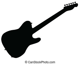 Rock Guitar Silhouette