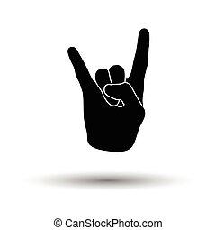 Rock hand icon