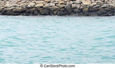 Rock Jetty on Maafushi Island, Maldives. Video 1080p -...